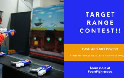 Target Range Contest at Foam Fighters – Cash and Gift Prizes!!